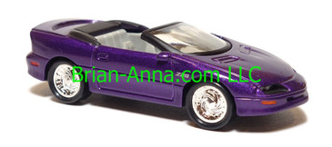 Hot Wheels 95 Chevy Camaro Convertible, Purple, TWS wheels, loose