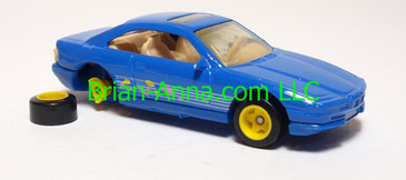 Hot Wheels Prototype Sample, BMW 850i, Blue, Malaysia, loose
