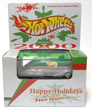 Hot Wheels Mattel Employee 2000 Christmas car, Rocket Oil
