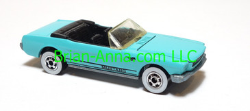 Hot Wheels '65 Mustang Convertible, Lt BLue, Whitewalls, HK base, loose