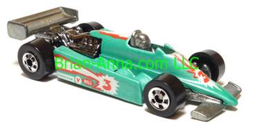 Hot Wheels Turbo Streak Formula Racer, Turquoise, Aquafresh promo, Blackwall wheels, Malaysia base, loose