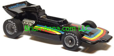 Hot Wheels Malibu Grand Prix, Black, Real Rider wheels, Malaysia base, loose