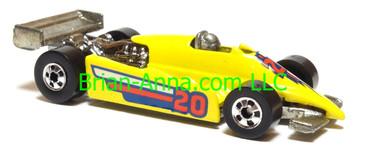 Hot Wheels Turbo Streak Formula Racer, Bright Yellow, Kellogg Cereal promo, Blackwall wheels, Malaysia base, loose