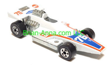 Hot Wheels Formula 5000 Formula Racer, Bright White, Blackwall wheels, Hong Kong base, loose
