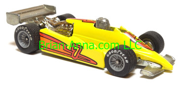 Hot Wheels Turbo Streak Formula Racer, Bright Yellow, Real Rider wheels, Malaysia base, loose