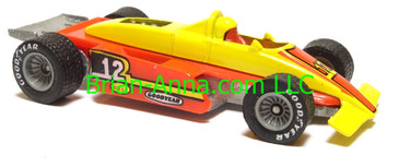 Hot Wheels Formula Fever, Bright Yellow/Red, Real Rider wheels, Hong Kong base, loose