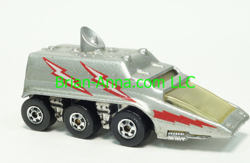 Hot Wheels Space Vehicle, Mexico Only, Silver with tampos, Blackwall wheels, Hong Kong base, loose