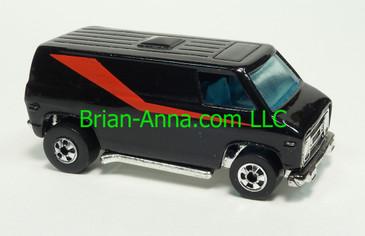 Hot Wheels Super Van, Black, Blackwall wheels, Malaysia base, loose
