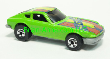 Hot Wheels 1983 Speed Machine Series Z-Whiz, Green with Red tampo, Blackwall wheels, Malaysia base, loose