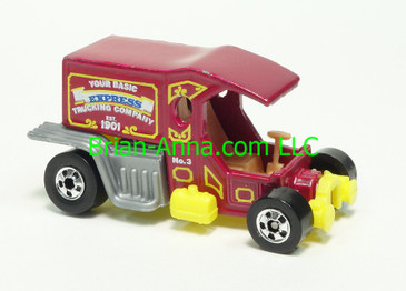 Hot Wheels 1983 Speed Machine Series T-Totaller in Magenta, Blackwall wheels, Malaysia base, loose