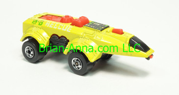 Hot Wheels 1983 Speed Machine Series, Spacer Racer, Yellow, Blackwall wheels, Malaysia base, loose