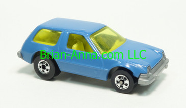 Hot Wheels 1983 Speed Machine Series, Packin Pacer in Blue, Blackwall wheels, Malaysia base, loose