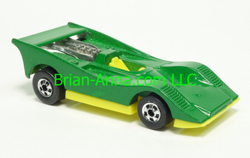 Hot Wheels 1983 Speed Machine Series, American Victory, Green, Blackwall wheels, Malaysia base, loose