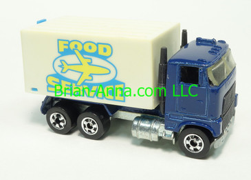 Europe Only - Hot Wheels 1983 Airport Food Service, Blue cab, Blackwall wheels, France base, loose