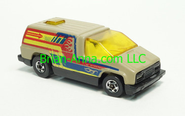Hot Wheels 1984 Mexico - Inside Story, Gray/Tan, Blackwall wheels, Malaysia base, loose