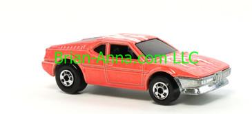 Hot Wheels 1988 Color Racers Wind Splitter, Pink, Blackwalls, Malaysia base, loose