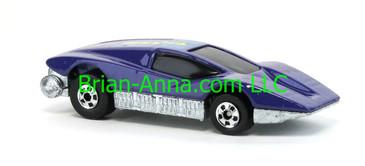 Hot Wheels 1988 Color Racers Large Charge, Purple, Blackwalls, Malaysia base, loose