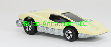 Hot Wheels 1988 Color Racers Large Charge, Off White, Blackwalls, Malaysia base, loose