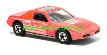 Hot Wheels 1988 Color Racers Fiero 2M4, Blackwalls, Malaysia base, loose
