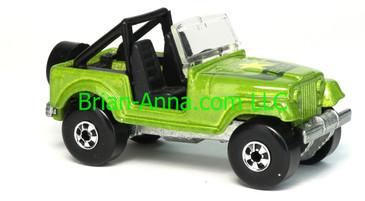 Hot Wheels 1988 Color Racers Jeep CJ-7, Blackwalls, Malaysia base, loose