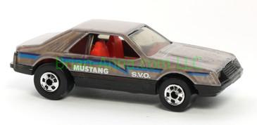 Hot Wheels 1988 Color Racers Mustang SVO, Blackwall wheels, Malaysia base, loose