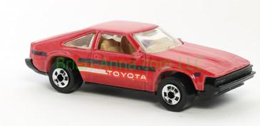Hot Wheels 1988 Color Racers '82 Toyota Supra, Blackwall wheels, Malaysia base, loose