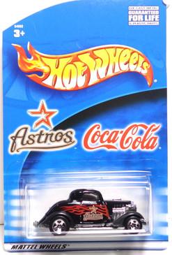 Houston Astro's Hot Wheels Black 3-window 1934 Ford Coupe Coca-Cola