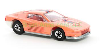 Hot Wheels 1988 Color Racers Ferrari Testarossa, Blackwall wheels, Malaysia base, loose