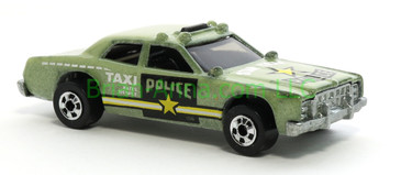 Hot Wheels 1988 Color Racers Sheriff Patrol Taxi, Blackwall wheels, Malaysia base, loose
