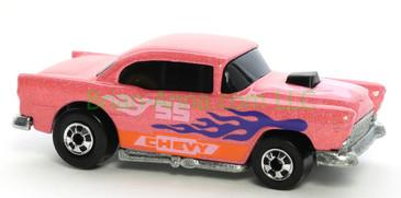 Hot Wheels 1988 Color Racers '55 Chevy, Blackwall wheels, Malaysia base, loose