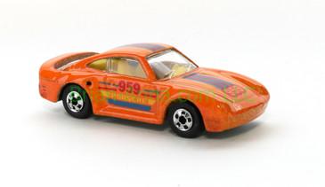 Hot Wheels 1988 Color Racers  Porsche 959, Blackwall wheels, Malaysia base, loose