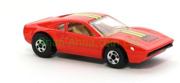 Hot Wheels 1988 Color Racers  Ferrari Race Bait 308, Blackwall wheels, Malaysia base, loose