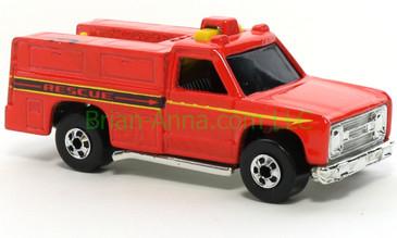 Hot Wheels 1988 Color Racers  Emergency Squad, Blackwall wheels, Malaysia base, loose