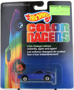 Hot Wheels 1988 Color Racers  Porsche 928 in Dark Blue on the card