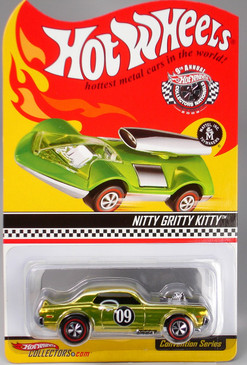 9th Hot Wheels Nationals Nitty Gritty Kitty, comes pre-packaged inside a plastic protective case