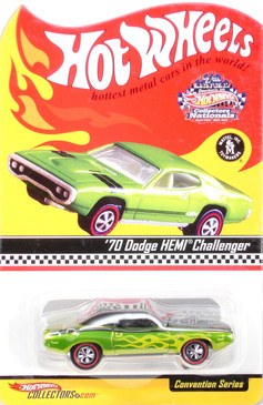 7th Hot Wheels Nationals 1970 Dodge Hemi Challenger in Antifreeze Green