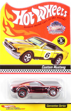 7th Hot Wheels Nationals Custom Mustang in spectraflame red, limited run special edition