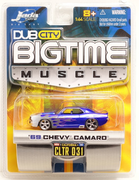 Jada Toys Dub City Big Time Muscle 1969 Chevy Camaro in Electric Blue