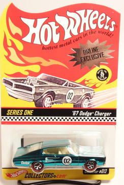 2002 Hot Wheels Hot Wheels Club Exclusive, Spectraflame Aqua, '67 Dodge Charger