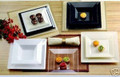 Simply Squared 4 1/2 Inch Dessert Plates Available in 4 Colors. Packed 120 Plates to a Case.
