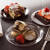 Yoshi Clear Ware 6 Inch Dessert Plates. Packed 500 to a Case