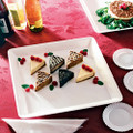 "18"" X 18"" Square Plastic Serving Tray Available In 3 Colors. Packed 20 to a Case"