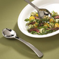Glimmerware 10 Inch Silver Plastic Serving Spoons. Sold in a 2 Pack or Case of 50.Spoons