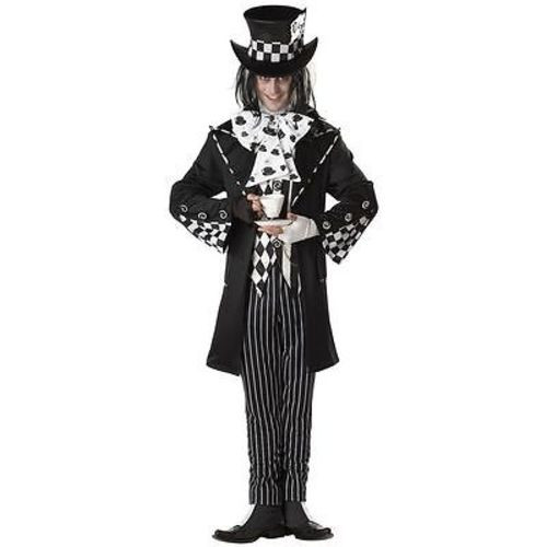ADULT MENS DARK MAD HATTER SCARY SPOOKY VILLAIN HALLOWEEN COSTUME COSPLAY S-XL