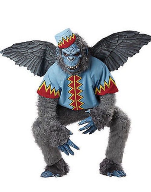 ADULT MENS EVIL WINGED MONKEY FLYING CHIMP WIZARD OF OZ HALLOWEEN COSTUME  S-XXL