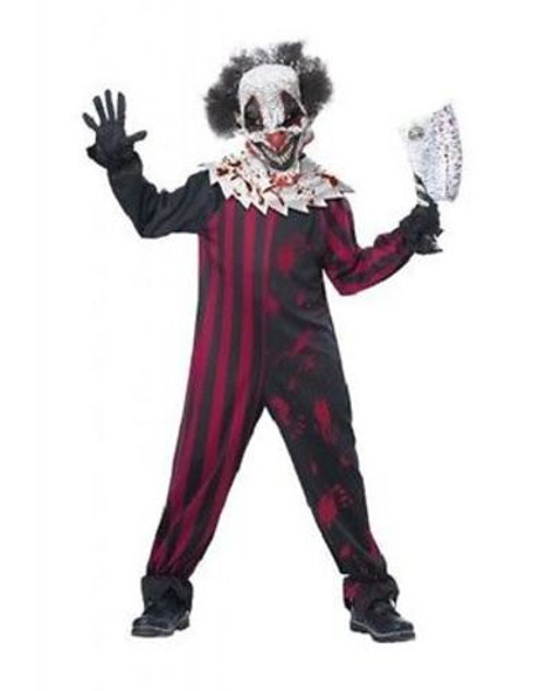 CHILDRENS KILLER CLOWN CIRCUS CREEPY COSPLAY SCARY KILL HALLOWEN COSTUME S-L