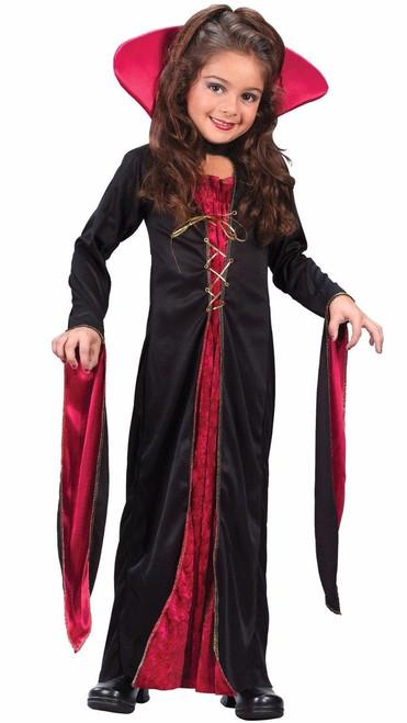 Fun World Victorian Vampiress Vampire Child Girls Gothic Halloween Costume 8723