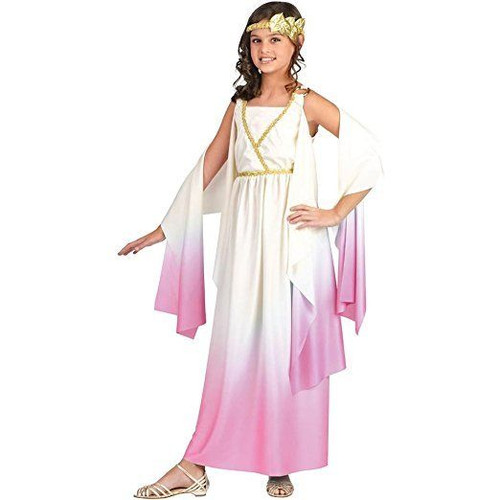 Fun World Athena Pink Greek Goddess Dress Child Girls Halloween Costume 120902