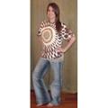 Brown/beige-Tie Dyed 528 Tshirt (Leopard)