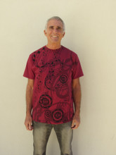 Burgundy 528 Musical T-Shirt (100% Organic Cotton)